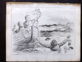 E. C. Mountfort - The Dart 1880's Political Cartoon. Competition. Rates Trade